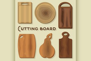 Vector illustration of cutting board
