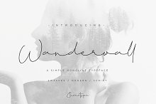 Wanderwall by  in Script Fonts