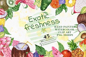 Exotic freshness Watercolor Set