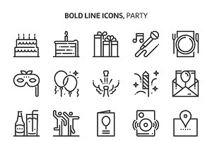 Party, event icons