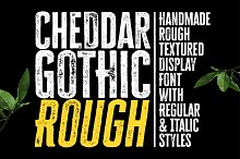 Cheddar Gothic Rough Font by  in Sans Serif Fonts
