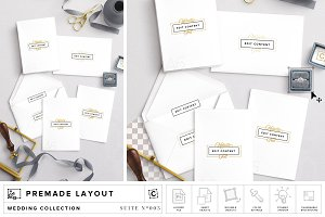 A6 Wedding Invitations Mockup