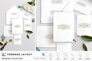 Wedding Suite Mockup Scene