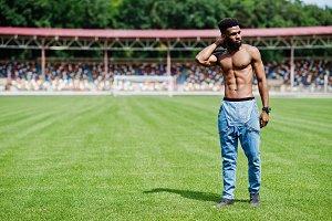 Handsome african american man