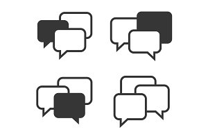 Speech Chat Bubbles Set