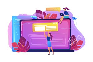 Bloging concept vector illustration.