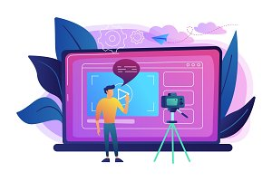 Vlog concept vector illustration.
