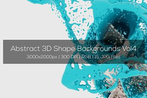 Abstract 3D Shape Backgrounds Vol4