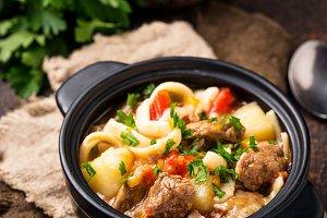Traditional oriental uzbek soup