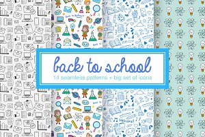 Back to school: vector set