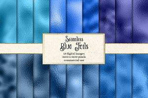 Blue Foil Textures