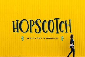 Hopscotch Font + Doodles
