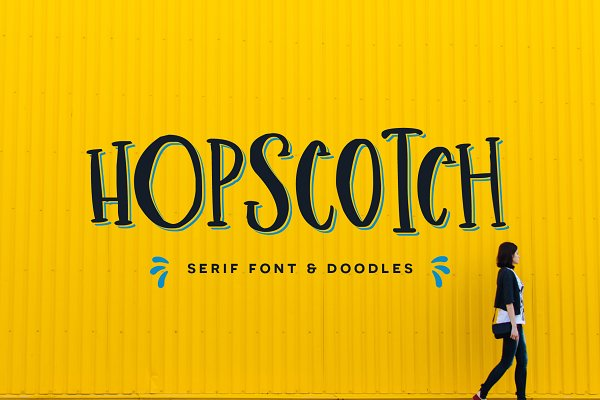Fonts: Flycatcher Design - Hopscotch Font + Doodles