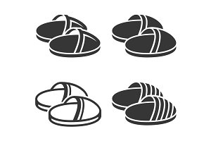 Home Slippers Icon Set