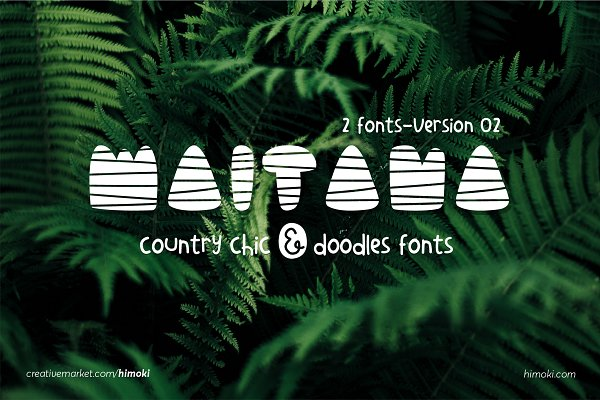 Sans Serif Fonts - Maitana_country_scandinavian_2fonts_
