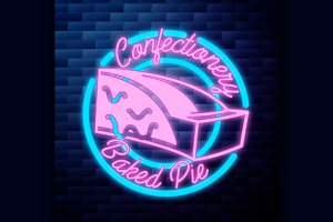 Vintage confectionery emblem