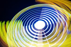 Abstract colorful light trails