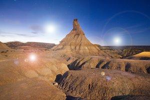 Alien planet of desertic surface