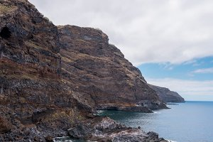 Volcanic Coastline and cliffs