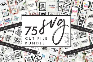 SVG Cut File Bundle - 75 SVG Designs