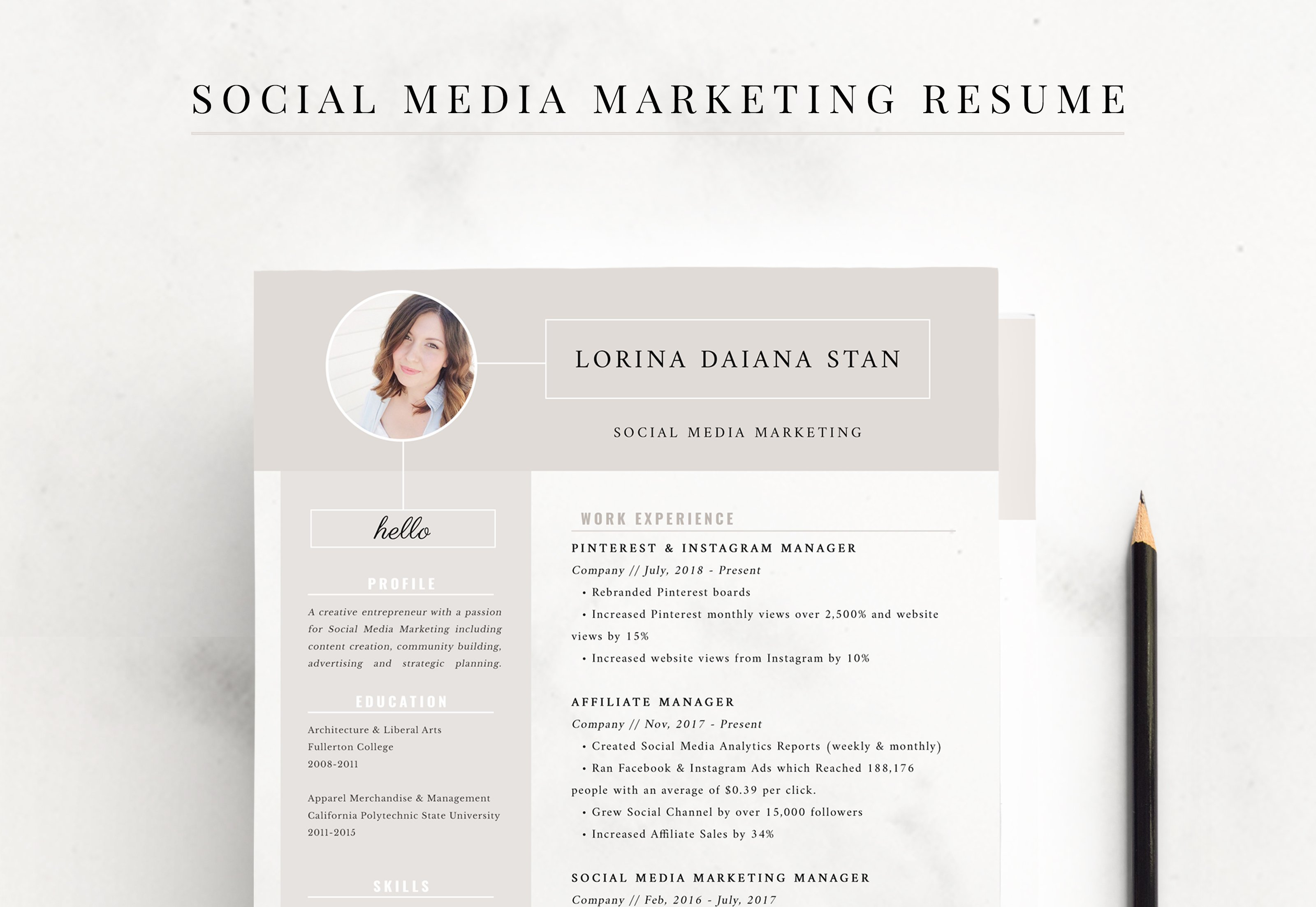 Resume: Social Media Marketing