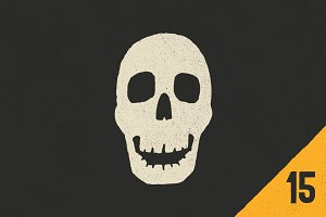 Vector Skulls & Crossbones - 15 Pack