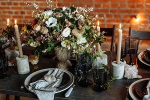Loft style dining room