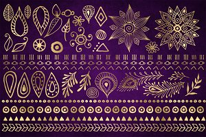 Boho Design Elements Clipart