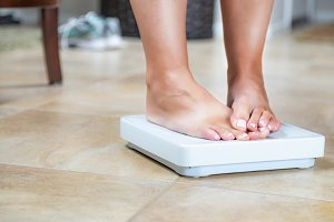 Shy Feet on Weight Scale