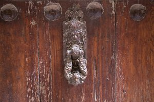 door knocker in Calaceite village in