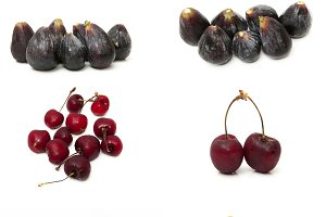 collage of different fruits