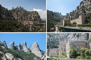 collage landscape of Montserrat in B