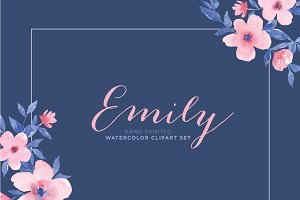 Emily - Watercolor Floral ClipArt