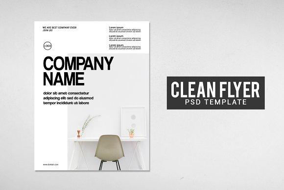 clean flyer design template flyer templates creative market