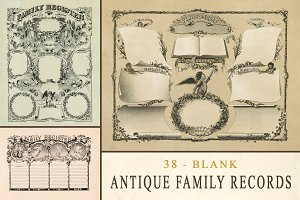 Antique Family Records - Blank
