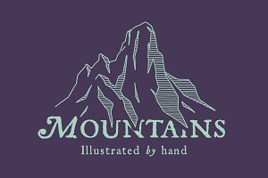 5 Mountain Ranges - By Hand