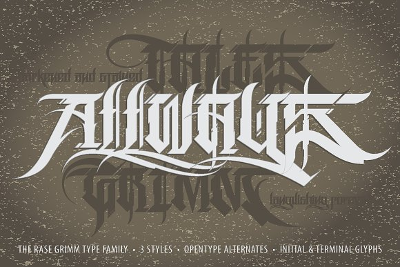 Rase Grimm - 3 Font Family