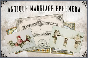 Antique Marriage Ephemera