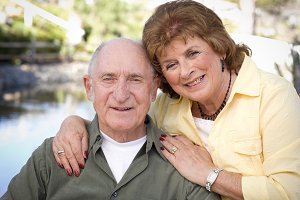 Happy Senior Couple Relaxing in The
