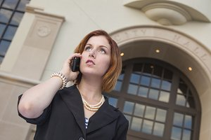 Young Businesswoman On Cell Phone in
