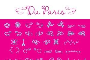 Du Paris Dingbat Font