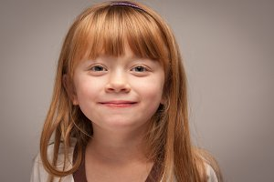 Fun Portrait of an Adorable Red Hair