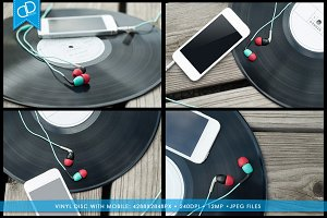 Vinyl Disc with Mobile