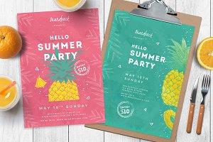 Minimal Summer Poster / Flyers