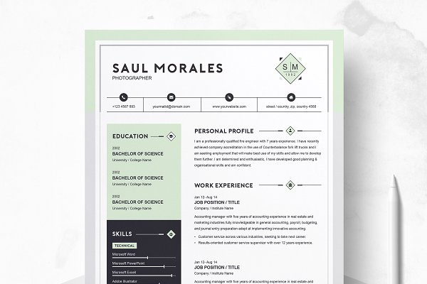 Resume Template With Cover Letter Templates