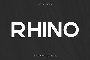 Rhino Bold font + Styles | 70% off