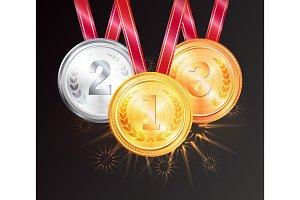 Shiny Medals for Prizal Places in