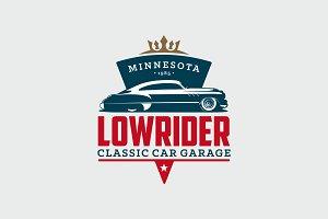 Classic Car Garage Logo