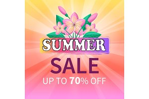 Summer Sale Up 70% Off Advertisement