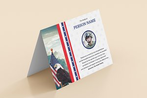 Funeral Thank you Card for Army Mili